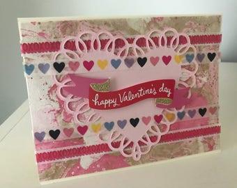Happy Valentine's Day Card - Handmade Custom Card