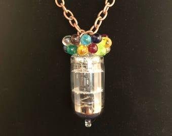 Radio Tube Necklace - Copper Chain Necklace -