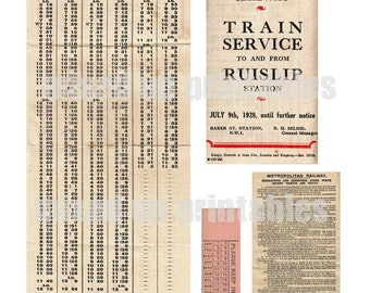 Mixed Up Printables - Train Travel 1928