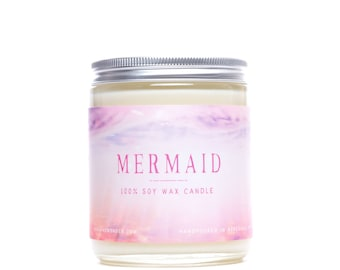 Mermaid Archetype Candle | All Natural Soy Candle | Citrus Candle | 8 oz