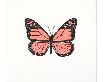 Neon Monarch Butterfly Art Print