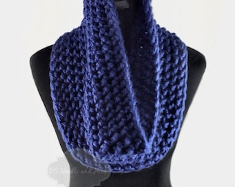 Blue Crochet Scarf, Crochet Cowl, Indigo Infinity Scarf, Royal Blue Neck Warmer, Handmade Crochet Scarf, Bright Blue Snood Scarf