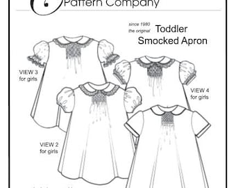 Toddler Smocked Apron sewing pattern by Trudy Horne