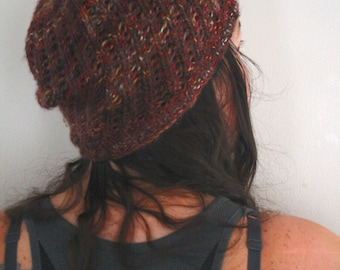 Knit Slouch Hat, Knit Hat, Knit Toque, Knit tam, Knit Cap, Knit Beanie,