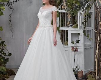 Wedding dress wedding dresses wedding dress ERIKA princess dress beadwork lace ivory pompous beadwork