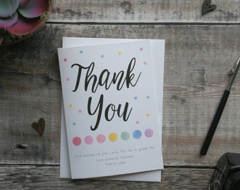 Thank you - Greeting Card - Christian Greeting Card - Give Thanks To The Lord