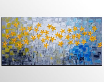 Flower Painting, Original Painting, Abstract Art, Wall Art Decor, Painting, Wall Painting, Acrylic Painting, Oil Painting, Canvas Painting