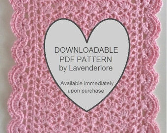 PDF PATTERN for Crocheted Doll Blanket by Lavenderlore - Permission to Sell Finished Item