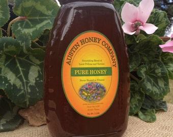 2 lb. Glass jar of wildflower honey