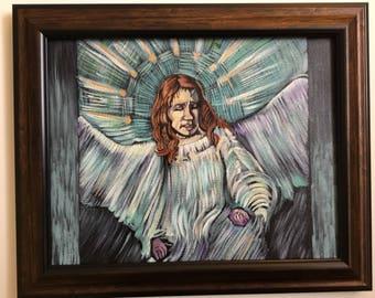 Gabriel in the style of Van Gogh
