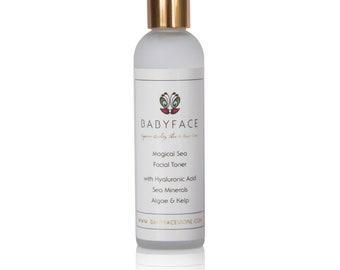 Babyface Magical Sea Facial Toner Hyaluronic Acid Sea Minerals Kelp Algae, 4 oz.