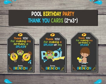 FREE - Pool Party Thank You Cards | Birthday Party Invitation