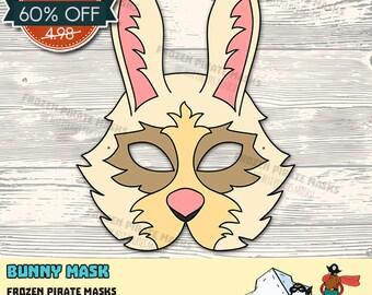 60% OFF SALE Bunny Printable Mask