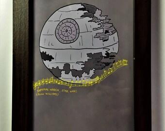 Star Wars: Death Star/ Imperial March print