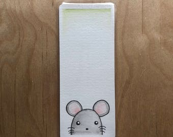 Bookmark mouse cute watercolor