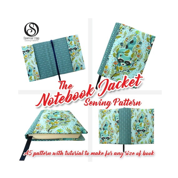 Notebook cover sewing pattern with free book cover tutorial