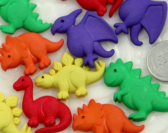 Resin Cabochons - 30mm Dinosaurs Resin Cabochons - 6 pc set