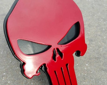 Punisher trailer hitch cover
