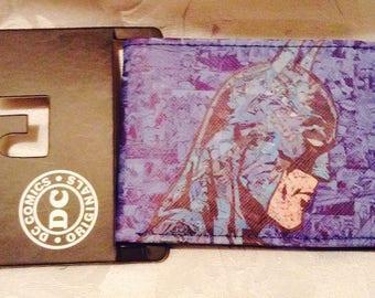 Batman Head/Cowl  Design Bifold Wallet Purple