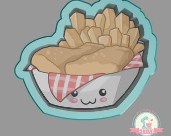 Fish and Chips Cookie Cutter (We Go Together Like)