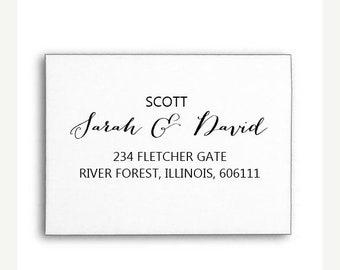 SPRING SALE Custom Name Stamp, Personalised Name Stamp, Custom Rubber Stamp, Calligraphy Stamp, Wood handle or Self Inking