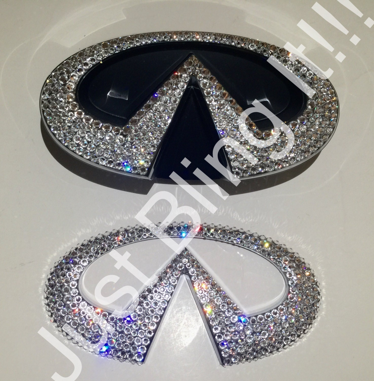 Swarovski Crystal Bling Infiniti Front And Rear Emblem