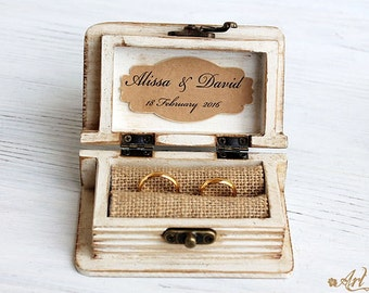 wedding ring box, ring bearer box, ring box, mr and mrs ring box, personalized box, Aqua Blue Box, beach wedding, engagement ring box,