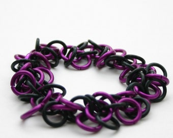 Purple Shaggy Loops Chainmail Bracelet