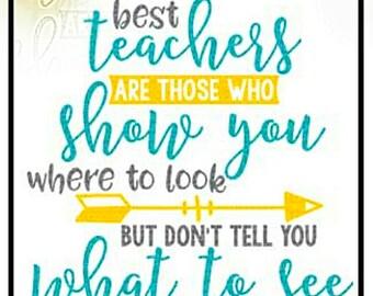 The Best Teachers Decal