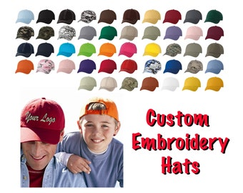 Custom Embroidery Logo  on a Classic Dad Cap VC300A / Custom Hats / Embroidery Hats / Monogram Hats