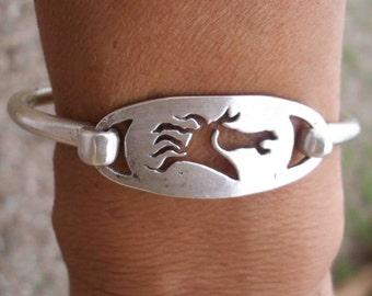 Wild Mustang Silver Bracelet