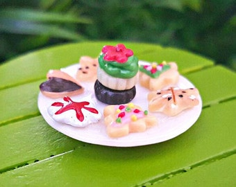 Miniature Plate of Santa Cookies
