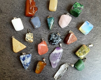 To choose from-natural gemstone natural nickel pendant