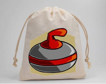 Curling, Birthday Party, Party Bags, Muslin Bags, Candy Bags, Treat Bags, Favor Bags, Fabric Bags, Drawstring Bags, Goodie Bags