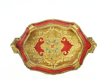 Vintage Florentine Tray - Italian Florentine Tray, 60s