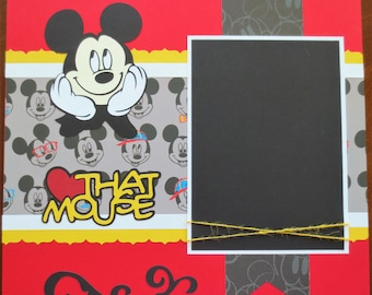 Disney Scrapbook Album 12x12 - Designed To Order - Just The Pages