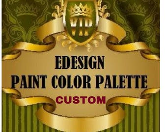 Custom Paint Color Palette - ONE ROOM - Home Paint Color Selections