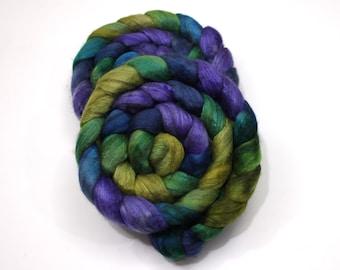 Merino Wool/ Yak/ Silk Roving (60/20/20) (Combed Top) - Hand Painted Spinning Fiber