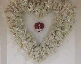 Christmas heart. Christmas wreath. Wreaths. Burlap. Burlap wreath. Christmas decorations