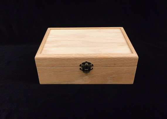 Unfinished Wood Box With Hinges Amp Latch 8 1 4x5