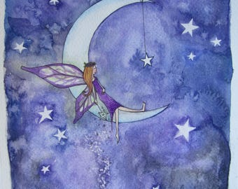 Fairy Moon Original Painting