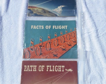 Vintage Aviation Book Lot Of (3) Cia 1950s Realm Of Flight Facts Of Flight Path Of Flight Issued Commerce Civil Aeronautics Administration