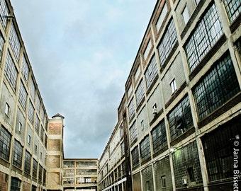 Russell Industrial Center Detroit Fine Art Photograph on Metallic Paper