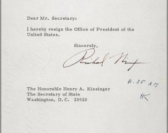 Poster, Many Sizes Available; President Richard Nixon Resignation Letter Of Richard M. Nixon, 1974