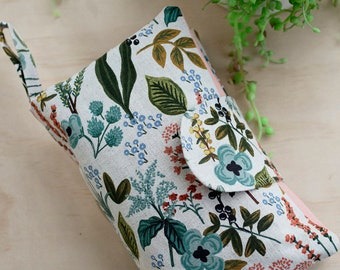 Rifle paper co nappy wallet. Diaper clutch. Rifle paper baby gift. Floral nappy wallet. Wet wipes bag. Baby shower gift.