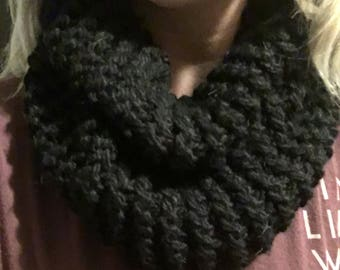 Black Knitted Cowl