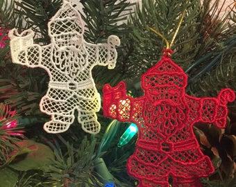 Embroidered Santa Claus Ornament,Saint Nicholas, Saint Nick, Kris Kringle, Father Christmas. Santa is the perfect decor for  Christmas Time!