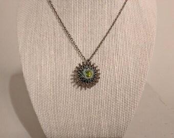 Geodesic steampunk pendant necklace