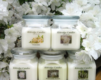 WHITE FLOWER COLLECTION - 10oz Soy Jar Candle (15% discount)