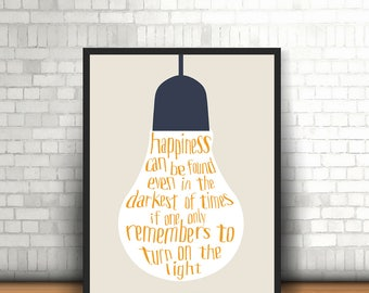 Harry Potter quote / motivational inspirational movie print / Home / Wall art, A4, 8x10inch or A5, Quality PaperA3
